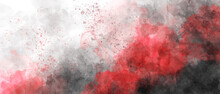 Black Red Sky Gradient Watercolor Background With Clouds Texture