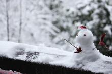 小さくてかわいい雪だるま