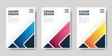 Set Of Book Cover Brochure Template Designs . Vector Illustration.