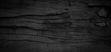 Old Wood Texture. Black Wooden Background. Timber Is Eroding. Wooden Grunge Background.