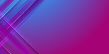 Abstract Purple Blue Pink Technology Background With Motion Neon Light Effect. Vector Illustration.