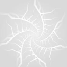 Abstract Geometric Soft Gray Spiral Shapes Futuristic Background. Ornamental Futuristic Light Grey Mosaic Pattern. Vector Illustration.
