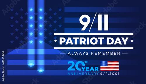 Stampa su Tela 9-11 Patriot Day Always Remember 9