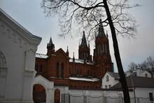 Brick Catholic Church In Smolensk
