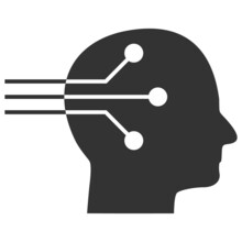 Neural Interface Vector Illustration. Flat Illustration Iconic Design Of Neural Interface, Isolated On A White Background.