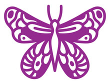 Comma Butterfly, Illustration, Vector On A White Background.