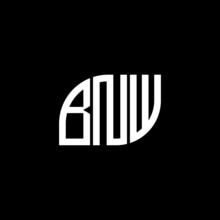 BNW Letter Logo Design On Black Background. BNW Creative Initials Letter Logo Concept. BNW Letter Design.