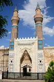 The other name of Gok Madrasa is Sahibiye Madrasa. The madrasa was built in 1271 during the Anatolian Seljuk period. Sivas, Turkey.