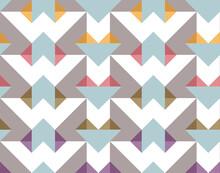 Seamless Geometric Simple Pastel Hearts Pattern Wallpaper Background
