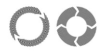 Set Of Circle Circular Rotating Design Elements.