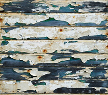 Horizontal Slats Of Heavily Weathered Wood