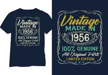 Born In 1956 Vintage Birthday Typography Design For Tshirt Print