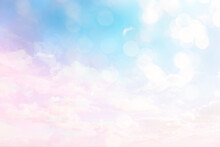 Clouds Watercolor Tint, Pink Clouds Gradient Background Sky, Atmosphere Air Freedom