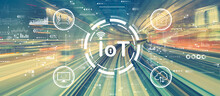 IoT Theme With High Speed Motion Blur