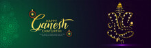 Creative Happy Ganesh Chaturthi Celebration Banner
