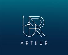Logo Name Arthur Usable Logo Design For Private Logo, Business Name Card Web Icon, Social Media Icon