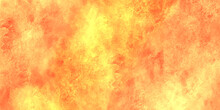 Abstract Fire Background With Smoke.abstract Yellow Grunge Texture Background For Wall Paper And Any Design.