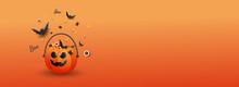 Jack O Lantern. Happy Halloween Day Background Holiday Concept.