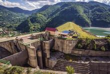 Siriu Dam On River Buzau Near Lunca Jaristei Village, Romania