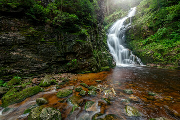 Waterfall in the mountains - Kamienczyka waterfall - Szklarska Poreba - Poland