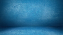 Light Blue Grunge Cement Wall And Floor Studio Room Space Product Display Background Template