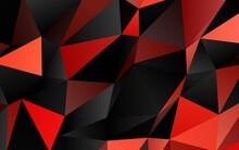 Light Red Vector Shining Triangular Template.