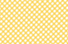 A Pastel Yellow Gingham Fabric Background That Is Seamless, Seamless Yellow Coarse Checkered Plaid Fabric Pattern Texture.