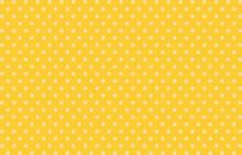 Pattern, White Polka Dots, Vector Background, Seamless Pattern White Dots On Yellow Background