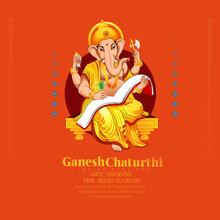 Illustration Of Lord Ganesha Background For Ganesh Chaturthi Festival Of India
