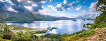 Panorama Of Derwentwater Lake In Cumbria