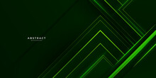 Abstract Green Neon Tech Background. Futuristic Technology Interface