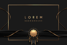 Black And Gold Luxury Frame Template