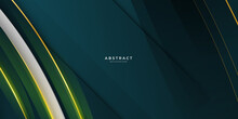 Dark Green And Gold Abstract Background