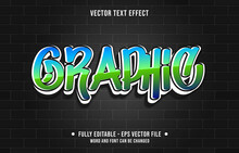 Editable Text Effect Gradient Color Street Graffiti Wall Style For Digital And Print Media Font Effect Template