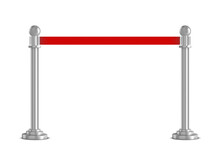 Realistic Vector Rope Barriers. VIP Event, Luxury Celebration.