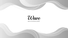 Abstract White And Gray Wave Background