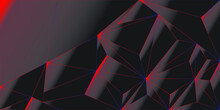 Red And Black Abstract Background Banner.