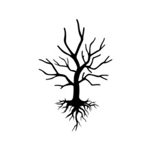 Dead Tree Icon Isolated On White Background