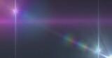 Three spots of light against purple background