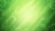 Colorful Green Bokeh Background No. 2