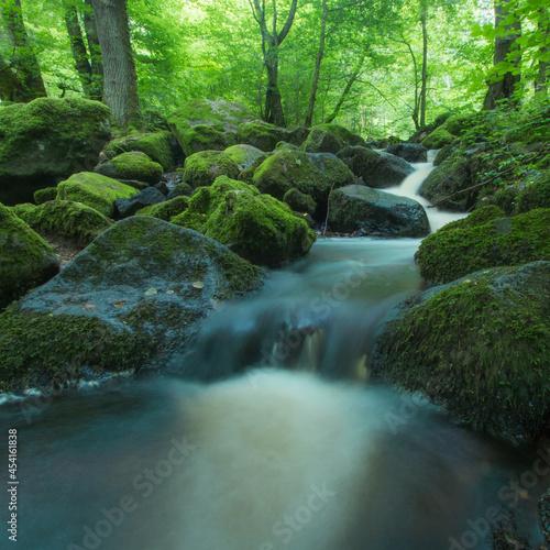 Cascade de Brisecou en Bourgogne à Autun en été