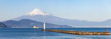Mount Fuji Seen From Suruga Bay, Shizuoka Prefecture, Japan
