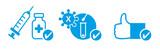 3G Regel - Geimpft - Getestet - Genesen. Vektor Illustration
