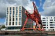 canvas print picture - Kran und Gebäude in Bremerhaven