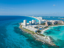 Cancun, Mexico Stunning Beach Photo With Drone