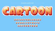 Orange Rounded Bubble Cartoon Typography