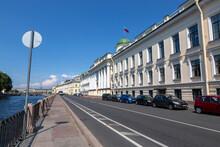 The Building Of The Leningrad Regional Court In St. Petersburg, Built In 1835