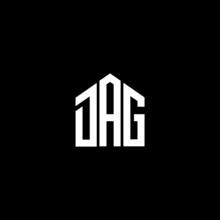DAG Letter Logo Design On Black Background. DAG Creative Initials Letter Logo Concept. DAG Letter Design.