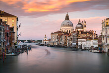 Venice Cityscape With Grand Canal Waterway, Venetian Architecture Colorful Buildings
