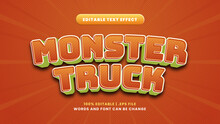 Monster Truck Editable Text Effect In Modern 3d Style